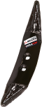 Reversible cultivator point 1537-B-AP2 Duratop with high resistance to wear hardfacing material