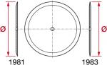 Discos planos 1981 para sembradoras con filo simple o filo doble