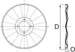 Plano de discos planos ondulados 1993-1994 8 ondas para sembradoras