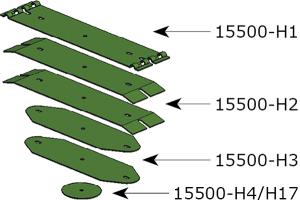 Desglose láminas Kverneland CLC 15500-H Bellota Agrisolutions