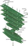Desglose láminas Kverneland 057063/4/5/6/7/8 para arados. 12500-H de Bellota Agrisolutions